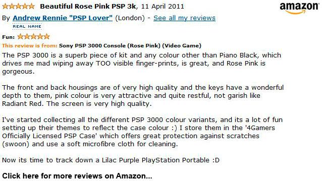 Rose Pink Sony PSP 3000