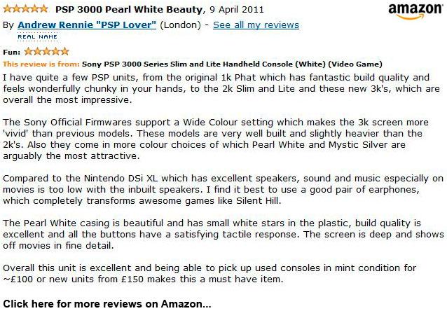 Pearl White Sony PSP 3000